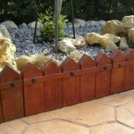 bordillo jardin tabla punta flecha 50x25x4